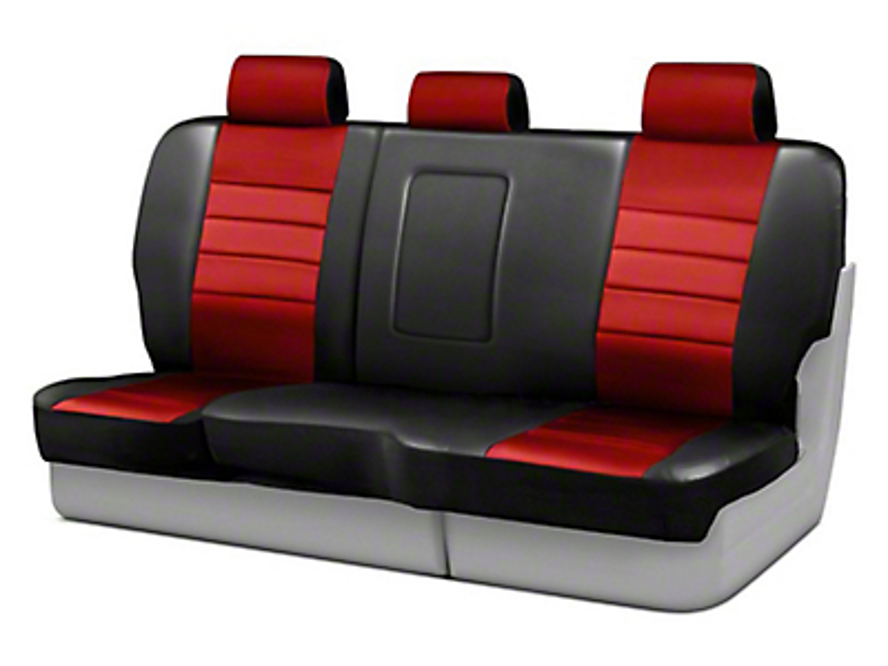 Fia Custom Fit Leatherlite Rear Seat Cover - Red (07-18 Wrangler JK 2 Door)