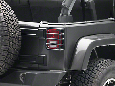 RedRock 4x4 Tail Light Guard - Textured Black (07-18 Jeep Wrangler JK)