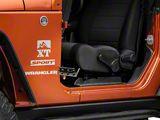 RedRock 4x4 Foot Pegs - Textured Black (07-18 Jeep Wrangler JK)