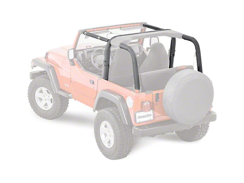 MasterTop Sport Bar Covers - Black Diamond (03-06 Jeep Wrangler TJ)