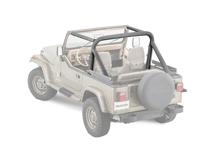 MasterTop Sport Bar Covers - Black Denim (87-95 Jeep Wrangler YJ)