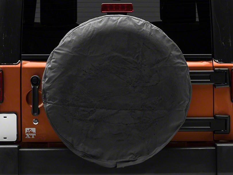 MasterTop Tire Cover - Black Denim (87-19 Jeep Wrangler YJ, TJ, JK & JL)