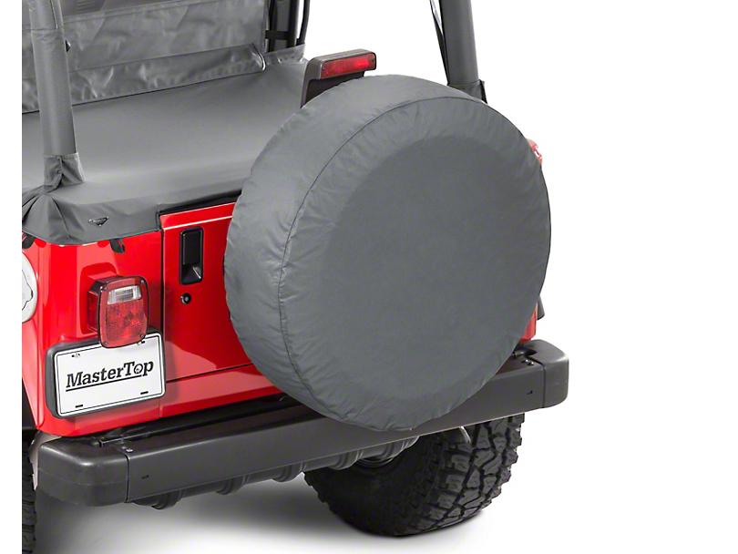 MasterTop Tire Cover - Black Diamond (87-20 Jeep Wrangler YJ, TJ, JK & JL)