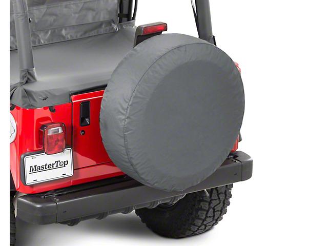 MasterTop Tire Cover   Black Diamond (87 18 Jeep Wrangler YJ, TJ, JK U0026 JL)