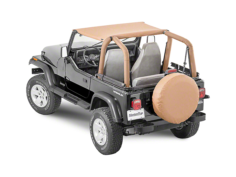 MasterTop Bimini Top - Black Denim (87-95 Jeep Wrangler YJ)
