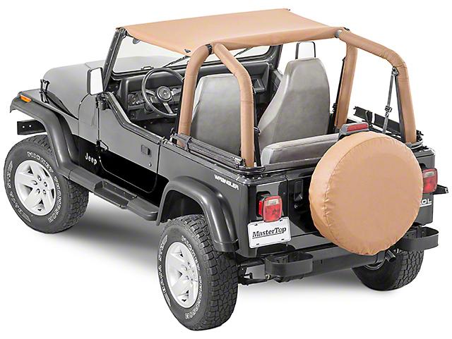 MasterTop Bimini Top - Black Denim (87-95 Jeep Wrangler YJ)