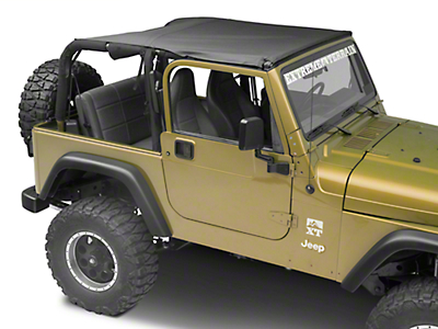 MasterTop Bimini Top Plus - Black Denim (97-06 Jeep Wrangler TJ)