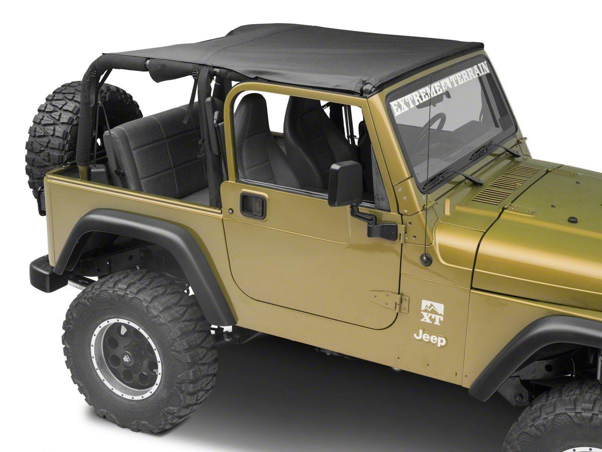 Jeep Bimini Top >> Mastertop Bimini Top Plus Black Denim 97 06 Jeep Wrangler Tj
