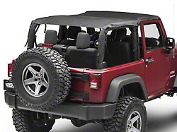 MasterTop Bimini Top Plus - Black Diamond (07-18 Jeep Wrangler JK 2 Door)