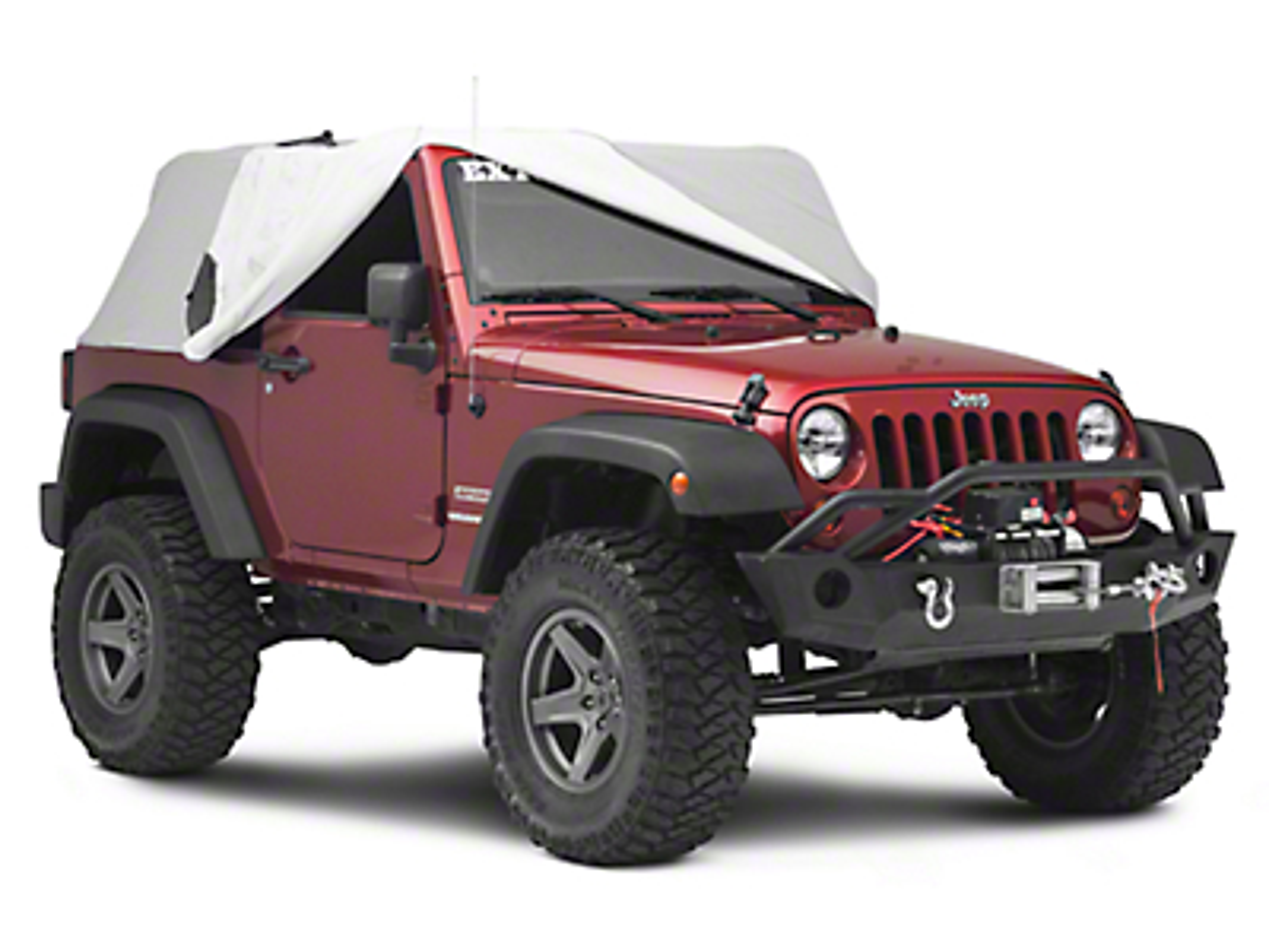 MasterTop Full Door Cab Cover - Gray Denim (07-18 Jeep Wrangler JK 2 Door)