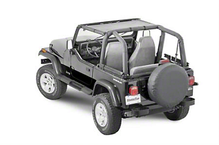 MasterTop ShadeMaker Mesh Bimini Top - Black (87-95 Jeep Wrangler YJ)
