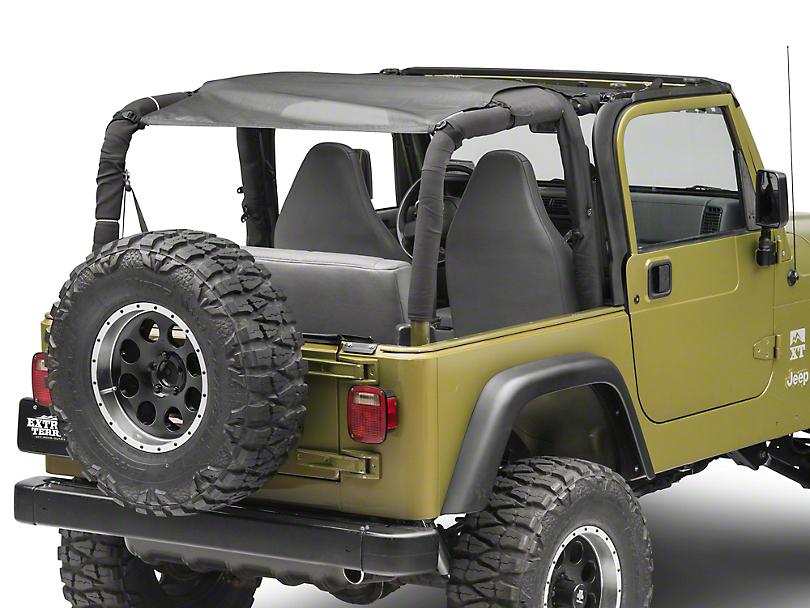MasterTop ShadeMaker Mesh Bimini Top Plus - Black (92-06 Jeep Wrangler YJ & TJ)