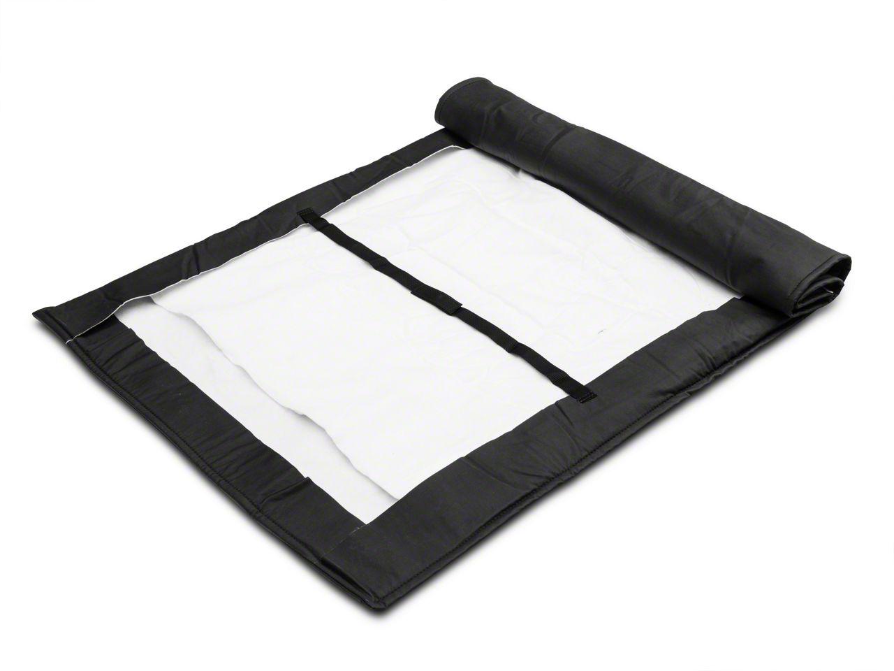 MasterTop Soft Top Protection Window Roll - Black (87-18 Jeep Wrangler YJ, TJ, & JK)