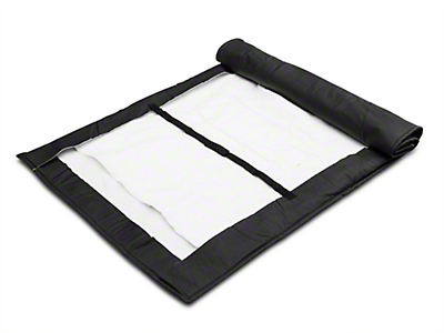 MasterTop Soft Top Protection Window Roll - Black (87-18 Wrangler YJ, TJ, & JK)