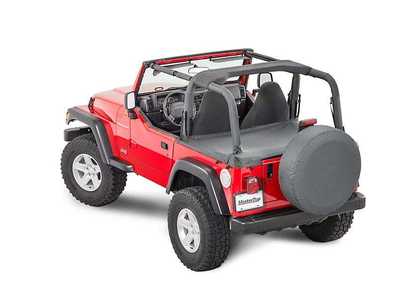 MasterTop Tonneau Cover - Black Denim (97-02 Jeep Wrangler TJ)
