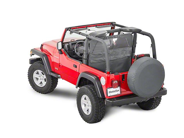MasterTop Zip Down Wind Stopper - Black Diamond (87-06 Jeep Wrangler YJ & TJ)
