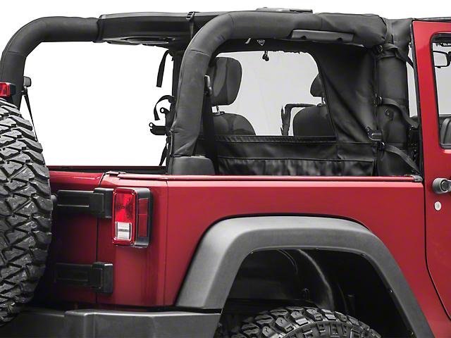 MasterTop Zip Down Wind Stopper - Black Diamond (07-18 Jeep Wrangler JK 2 Door)