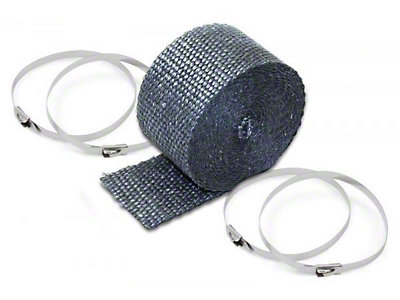 DEI Titanium Pipe Wrap - 2 in. Wide x 25 ft. Roll (87-18 Jeep Wrangler YJ, TJ, JK & JL)