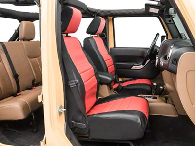 Fia SL67-63 RED Custom Fit Front Seat Cover Split Seat 60//40 Leatherette Black w//Red Center Panel