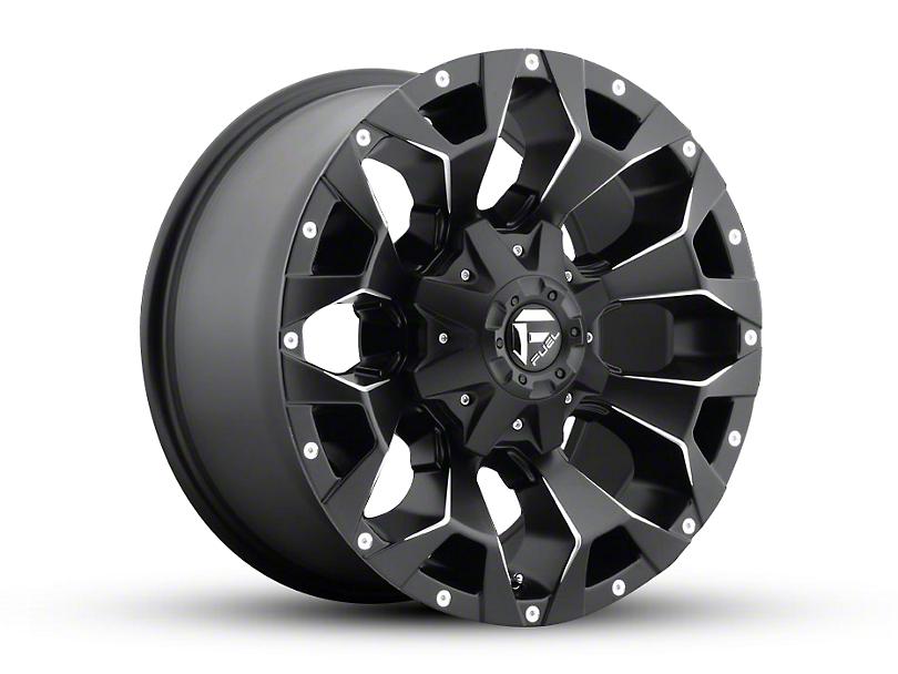 Fuel Wheels Assault Black Milled Wheel - 18x9 (97-06 Jeep Wrangler TJ)