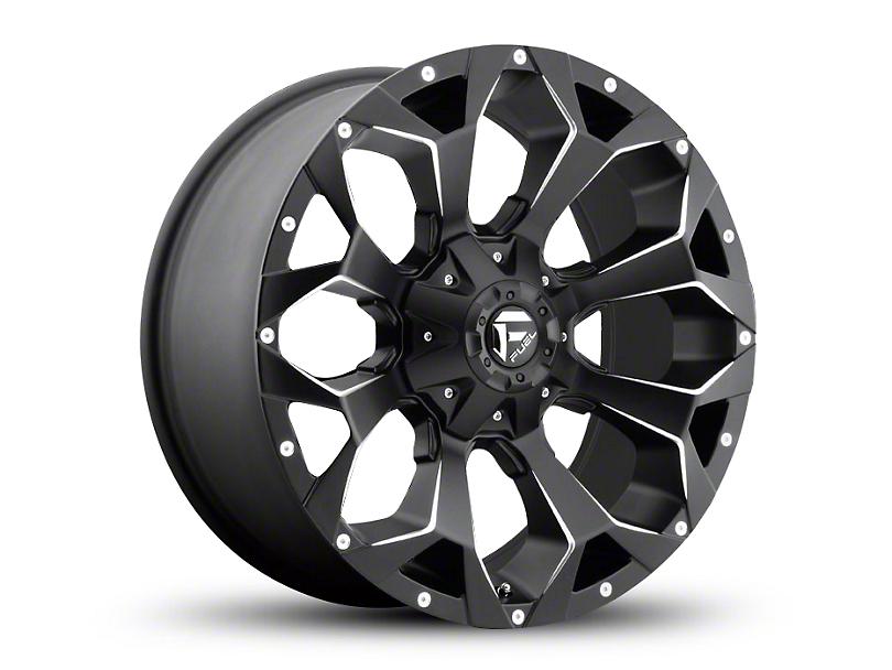 Fuel Wheels Assault Black Milled Wheel - 20x9 (97-06 Jeep Wrangler TJ)