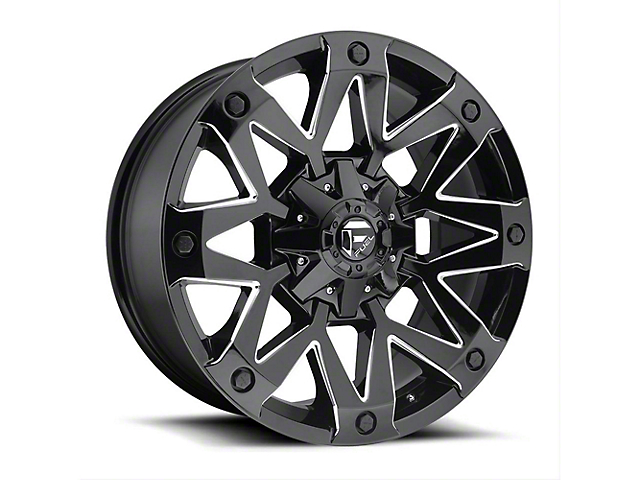 Fuel Wheels Ambush Gloss Black Milled Wheel - 20x9 (97-06 Jeep Wrangler TJ)