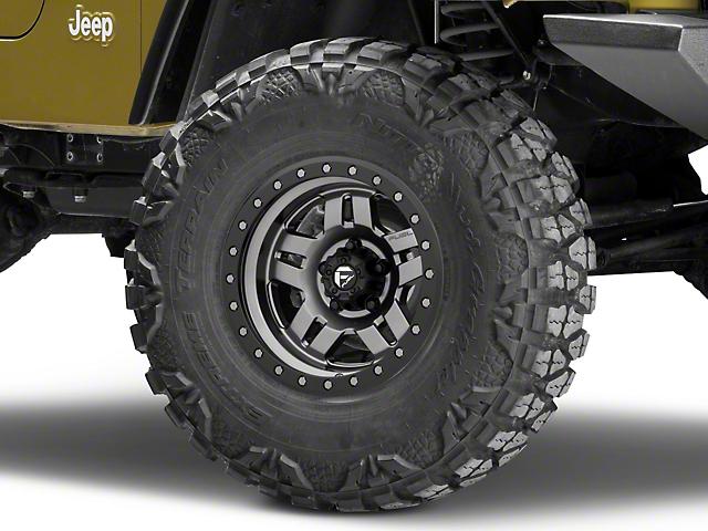 Fuel Wheels Anza Gun Metal Wheel - 15x8 (87-06 Jeep Wrangler YJ & TJ)