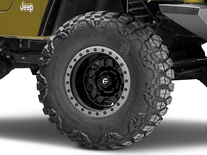 Fuel Wheels Anza Matte Black Wheel - 15x10 -43mm Offset (87-06 Jeep Wrangler YJ & TJ)