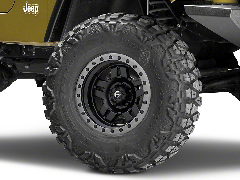 Fuel Wheels Anza Matte Black Wheel - 15x8 (87-06 Jeep Wrangler YJ & TJ)
