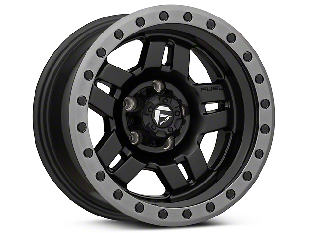 Fuel Wheels Anza Matte Black Wheel - 15x8 (87-95 Jeep Wrangler YJ)