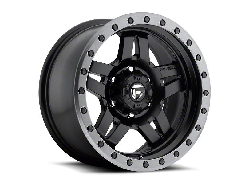 Fuel Wheels Anza Matte Black Wheel - 16x8 (87-95 Jeep Wrangler YJ)
