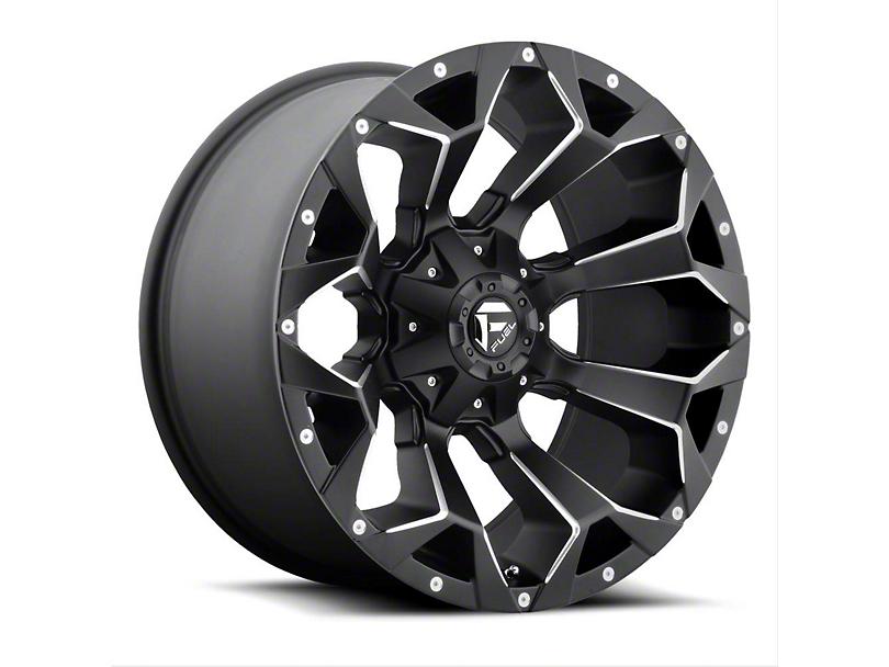 Fuel Wheels Assault Black Milled Wheel - 22x10 (97-06 Jeep Wrangler TJ)