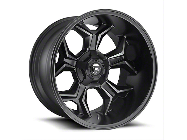 Fuel Wheels Avenger Black Machined w/ Dark Tint Wheel - 20x12 (97-06 Jeep Wrangler TJ)