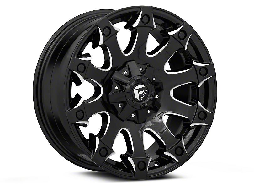 Fuel Wheels Battle Axe Gloss Black Milled Wheel - 20x9 (97-06 Jeep Wrangler TJ)