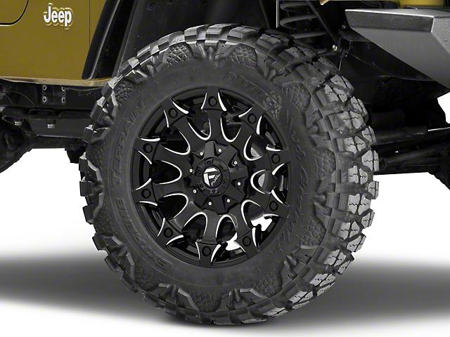 Fuel Wheels Battle Axe Gloss Black Milled Wheel; 18x9 (97-06 Jeep Wrangler TJ)