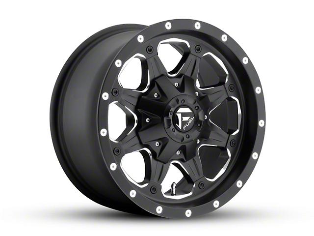 Fuel Wheels Boost Matte Black Milled Wheel - 16x8 (87-95 Jeep Wrangler YJ)