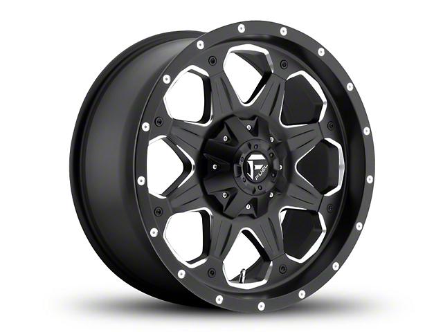 Fuel Wheels Boost Black Milled Wheel - 20x9 (97-06 Jeep Wrangler TJ)