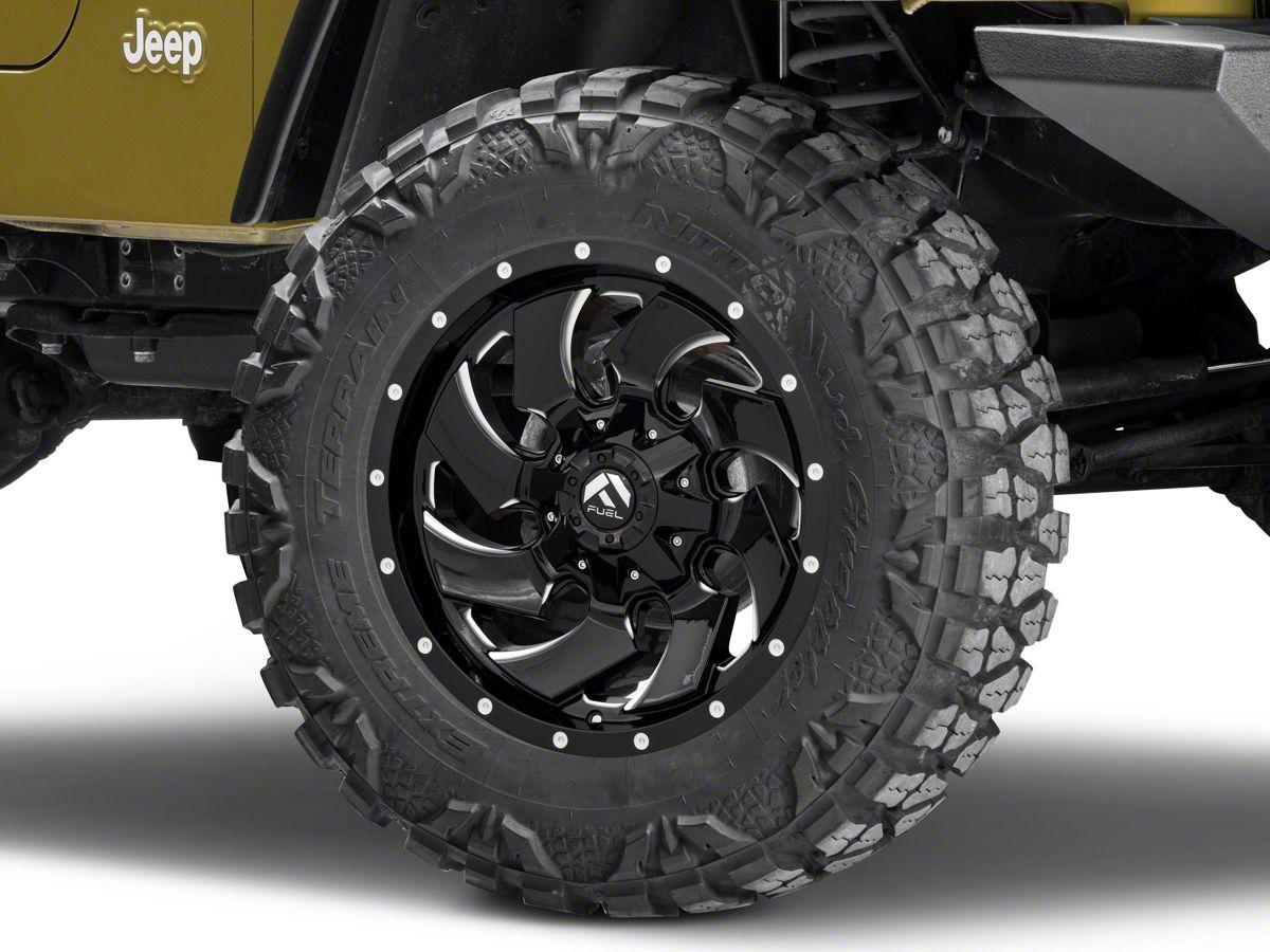 Fuel Wheels Jeep Wrangler Cleaver Black Milled Wheel - 18x9 J118597 (97-06 Jeep  Wrangler TJ)Extreme Terrain