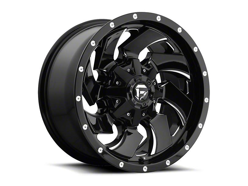 Fuel Wheels Cleaver Black Milled Wheel - 20x12 (97-06 Jeep Wrangler TJ)