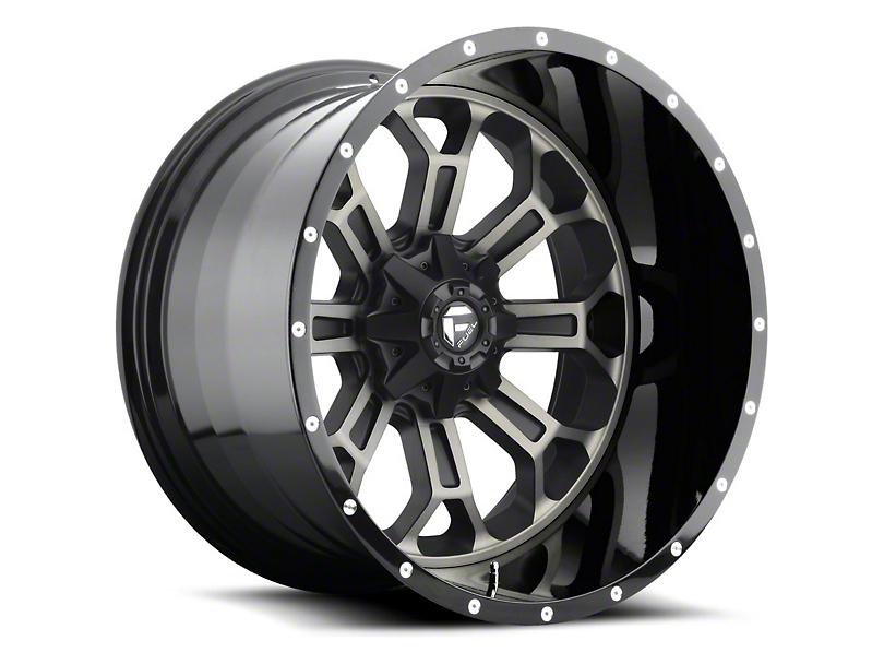 Fuel Wheels Crush Matte Black Machined Wheel - 20x10 (97-06 Jeep Wrangler TJ)