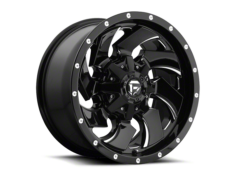 Fuel Wheels Cleaver Gloss Black Milled Wheel - 20x10 (97-06 Jeep Wrangler TJ)