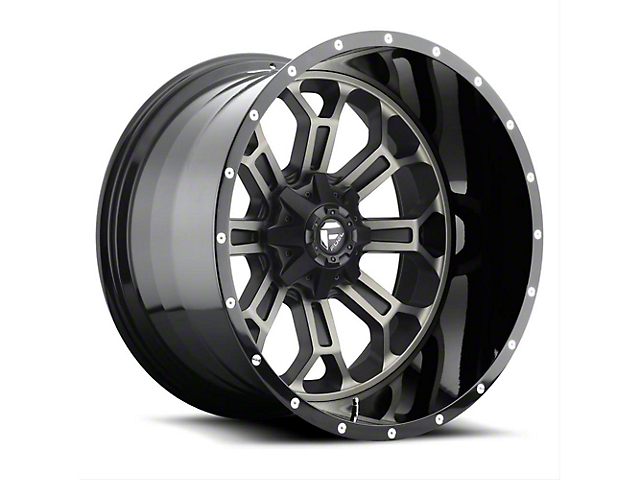 Fuel Wheels Crush Matte Black Machined Wheel - 20x12 (97-06 Jeep Wrangler TJ)