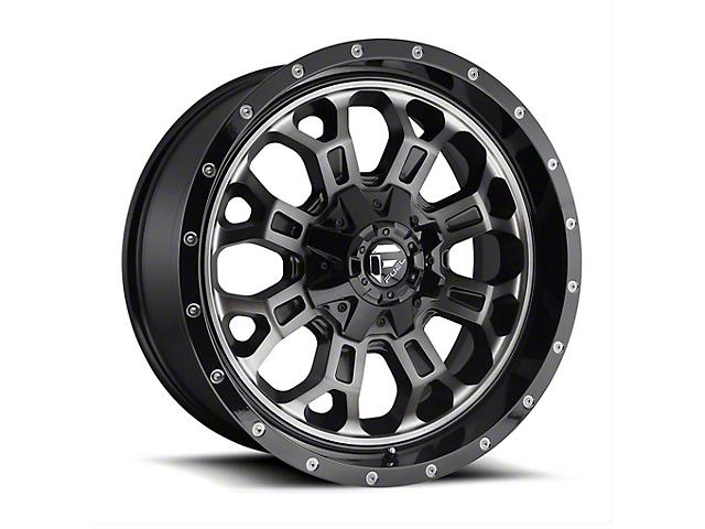 Fuel Wheels Crush Matte Black Machined Wheel - 20x9 (97-06 Jeep Wrangler TJ)
