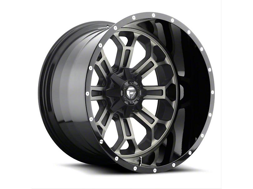 Fuel Wheels Crush Matte Black Machined Wheel - 22x12 (97-06 Jeep Wrangler TJ)