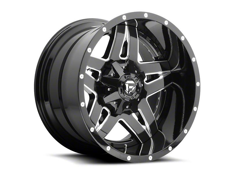 Fuel Wheels Full Blown Black Milled Wheel - 18x9 (97-06 Jeep Wrangler TJ)