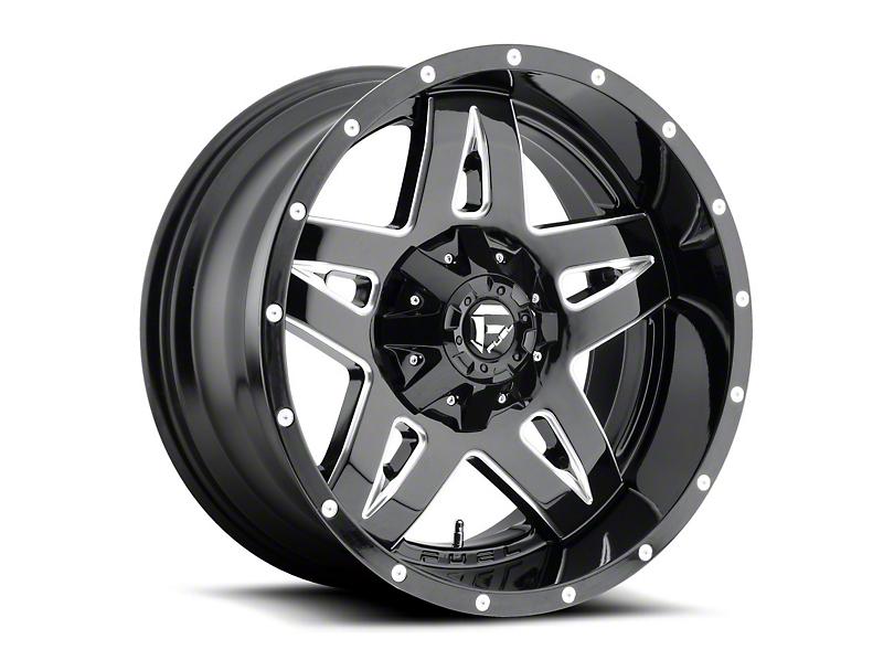 Fuel Wheels Full Blown Gloss Black Milled Wheel - 20x9 (97-06 Jeep Wrangler TJ)