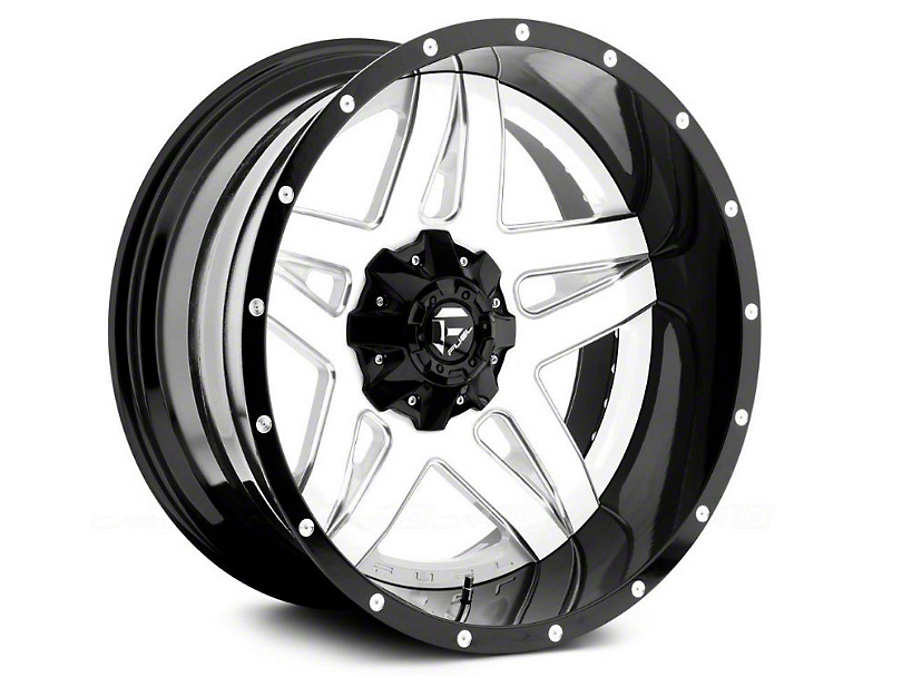 Fuel Wheels Full Blown White Milled Wheel - 20x12 (87-06 Jeep Wrangler YJ & TJ)