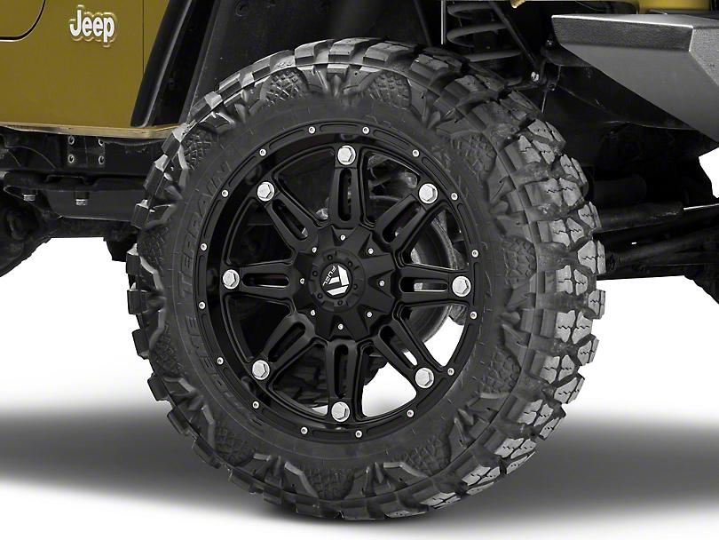 Fuel Wheels Hostage Matte Black Wheel - 20x9 (87-06 Jeep Wrangler YJ & TJ)