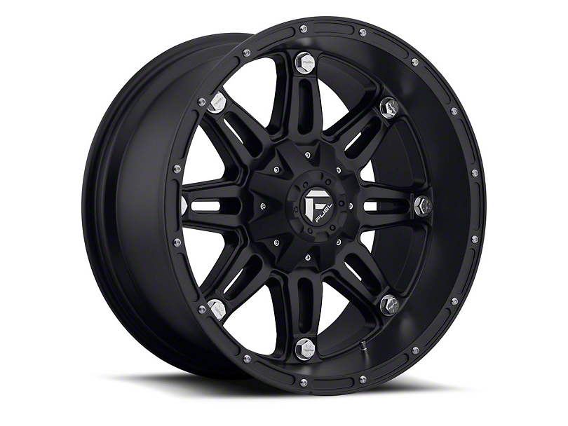 Fuel Wheels Hostage Matte Black Wheel; 22x9.5 (97-06 Jeep Wrangler TJ)
