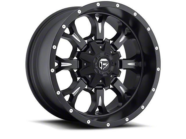 Fuel Wheels Krank Black Milled Wheel - 18x9 (97-06 Jeep Wrangler TJ)